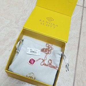 Kendra Scott Kacey necklace Pink Cat Eye Rose Gold